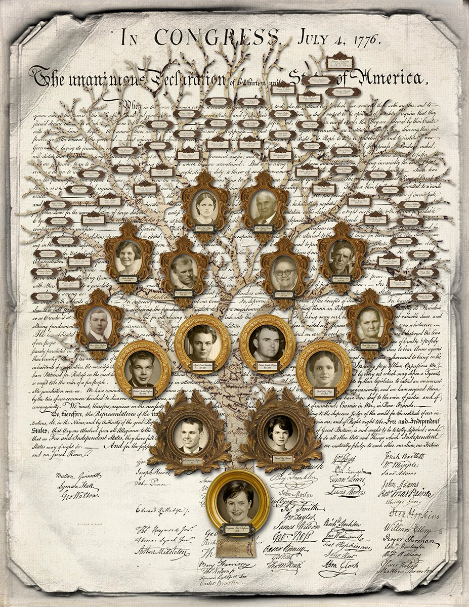 Family Tree for a new member of the Daughters of the American Revolution